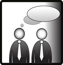 hombres hablando